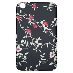 Black And White Floral Pattern Background Samsung Galaxy Tab 3 (8 ) T3100 Hardshell Case
