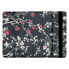Black And White Floral Pattern Background Samsung Galaxy Tab Pro 12 2  Flip Case by Samandel