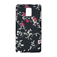 Black And White Floral Pattern Background Samsung Galaxy Note 4 Hardshell Case