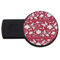 Floral Pattern Background Usb Flash Drive Round (4 Gb)