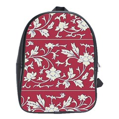 Floral Pattern Background School Bag (large)