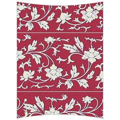 Floral Pattern Background Back Support Cushion