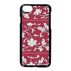 Floral Pattern Background Apple Iphone 8 Seamless Case (black)