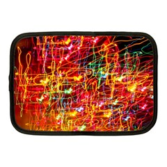 Random Colored Light Swirls Netbook Case (medium) by Samandel