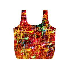Random Colored Light Swirls Full Print Recycle Bag (s)