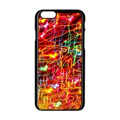 Random Colored Light Swirls Apple Iphone 6/6s Black Enamel Case