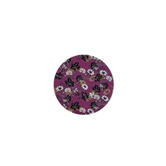 Beautiful Floral Pattern Background 1  Mini Magnets