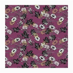 Beautiful Floral Pattern Background Medium Glasses Cloth (2 Side)