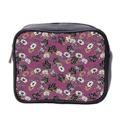 Beautiful Floral Pattern Background Mini Toiletries Bag (two Sides)
