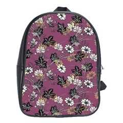 Beautiful Floral Pattern Background School Bag (xl)