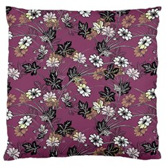 Beautiful Floral Pattern Background Large Flano Cushion Case (one Side)
