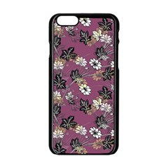 Beautiful Floral Pattern Background Apple Iphone 6/6s Black Enamel Case