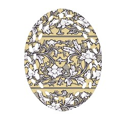 Floral Pattern Background Ornament (oval Filigree)