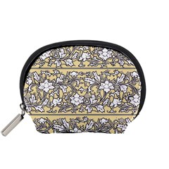 Floral Pattern Background Accessory Pouch (small) by Samandel