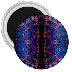 Kaleidoscope Art Pattern Ornament 3  Magnets by Samandel