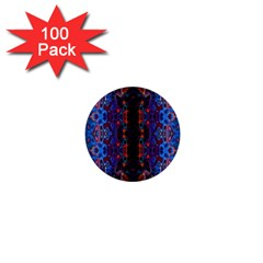 Kaleidoscope Art Pattern Ornament 1  Mini Buttons (100 Pack)