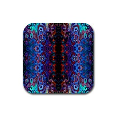 Kaleidoscope Art Pattern Ornament Rubber Coaster (square)