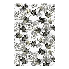 Black And White Floral Pattern Background Shower Curtain 48  X 72  (small)