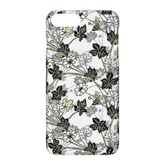 Black And White Floral Pattern Background Apple Iphone 8 Plus Hardshell Case