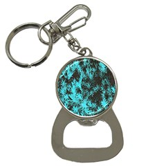 Blue Etched Background Bottle Opener Key Chains