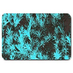 Blue Etched Background Large Doormat