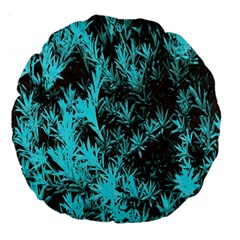 Blue Etched Background Large 18  Premium Round Cushions