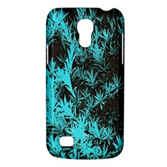Blue Etched Background Samsung Galaxy S4 Mini (gt I9190) Hardshell Case