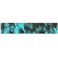 Blue Etched Background Large Flano Scarf