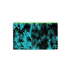 Blue Etched Background Cosmetic Bag (xs)