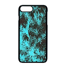 Blue Etched Background Apple Iphone 7 Plus Seamless Case (black)