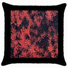 Orange Etched Background Throw Pillow Case (black)