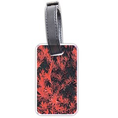 Orange Etched Background Luggage Tags (one Side)  by Samandel