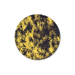Artistic Yellow Background Magnet 3  (round)