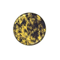Artistic Yellow Background Hat Clip Ball Marker (10 Pack)