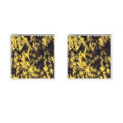 Artistic Yellow Background Cufflinks (square)