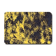 Artistic Yellow Background Small Doormat