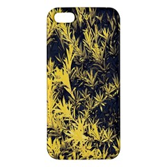 Artistic Yellow Background Apple Iphone 5 Premium Hardshell Case