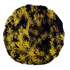 Artistic Yellow Background Large 18  Premium Flano Round Cushions by Samandel