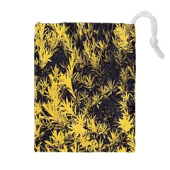 Artistic Yellow Background Drawstring Pouch (xl)