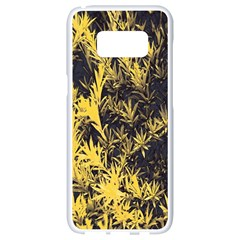 Artistic Yellow Background Samsung Galaxy S8 White Seamless Case