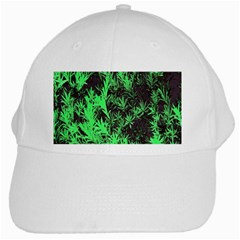 Green Etched Background White Cap