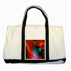 Background Color Colorful Rings Two Tone Tote Bag by Samandel