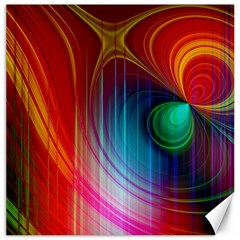 Background Color Colorful Rings Canvas 16  X 16