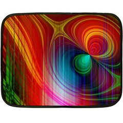 Background Color Colorful Rings Fleece Blanket (mini)