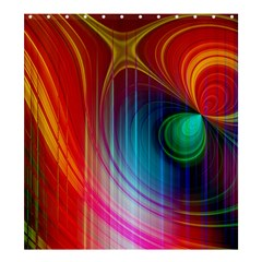 Background Color Colorful Rings Shower Curtain 66  X 72  (large)