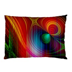 Background Color Colorful Rings Pillow Case (two Sides) by Samandel