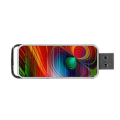Background Color Colorful Rings Portable Usb Flash (two Sides)