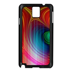 Background Color Colorful Rings Samsung Galaxy Note 3 N9005 Case (black)