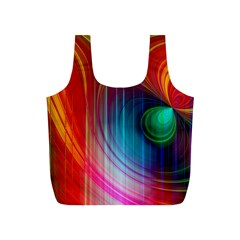 Background Color Colorful Rings Full Print Recycle Bag (s)