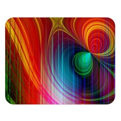 Background Color Colorful Rings Double Sided Flano Blanket (large)